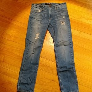 Hollister 30x30 slim straight ripped jeans